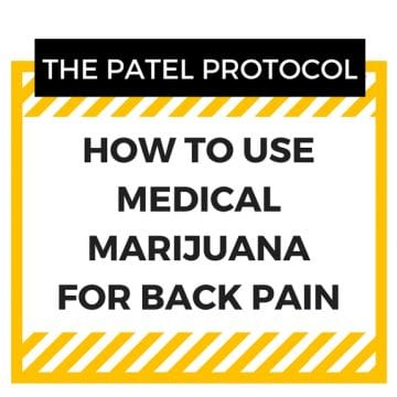 How to use medical marijuana for back pain