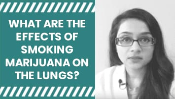 What are the effects of smoking marijuana on the lungs?